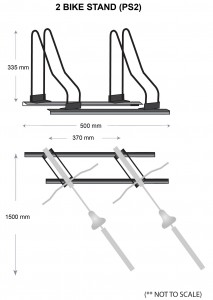Bike Stands Specifications - 2 bikes