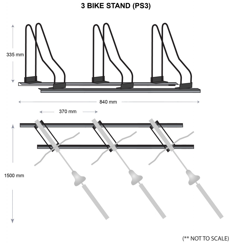 3 Bike Stands Parking Specs