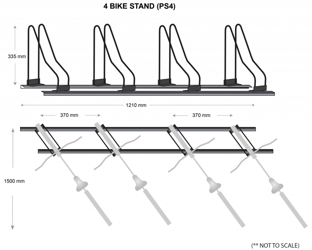 4 Bike Stands Parking Specs