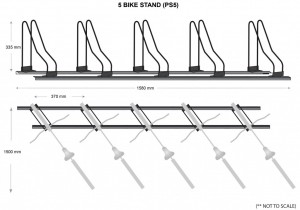 5 Bike Stands Parking Specs