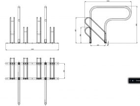 4-bike parking racks dimensions